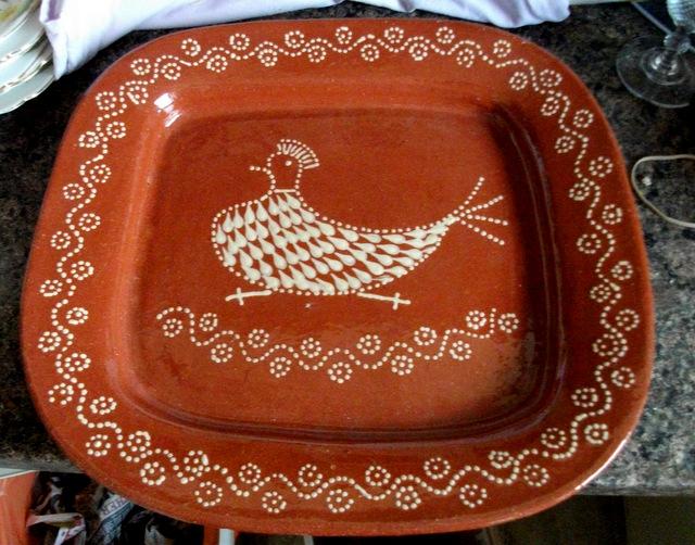 Slipware Platter - Portugal  Dscf6411