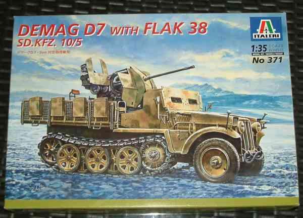Au bord du chemin - Demag D7 Flak38 SD.KFZ 10/5 de Italeri au 1/35° It37110