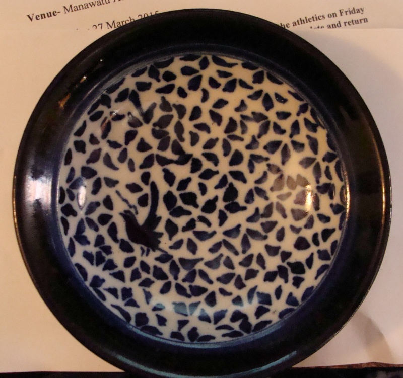 white - Blue & White Bird Bowl by Dianne Brady Dsc05210