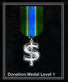 Donation Level Medal 1