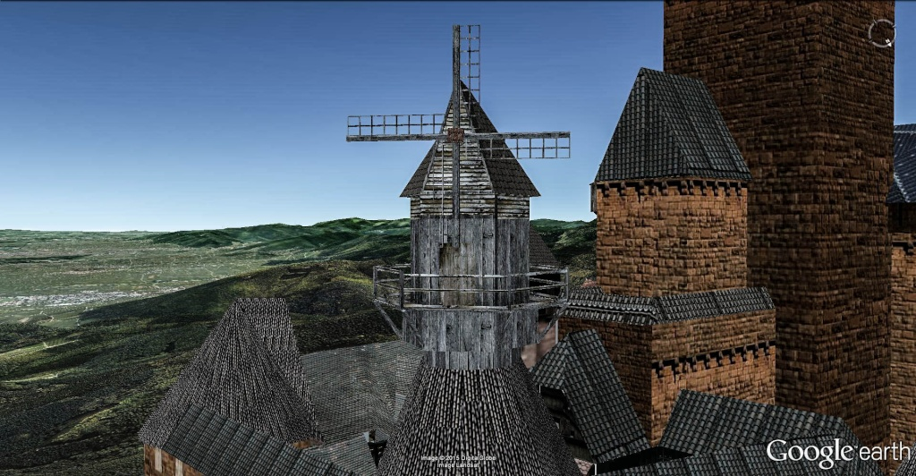 Le moulin du Château du Haut-Koenigsbourg, Orschwiller, France. Moulin12