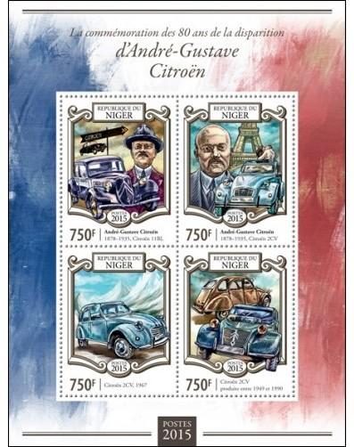 CITROEN et La POSTE  en timbres..... - Page 2 Niger113