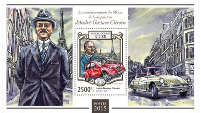 CITROEN et La POSTE  en timbres..... - Page 2 Niger211