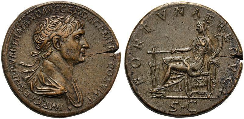 Votre avis sur ce sesterce de Trajan 606d10