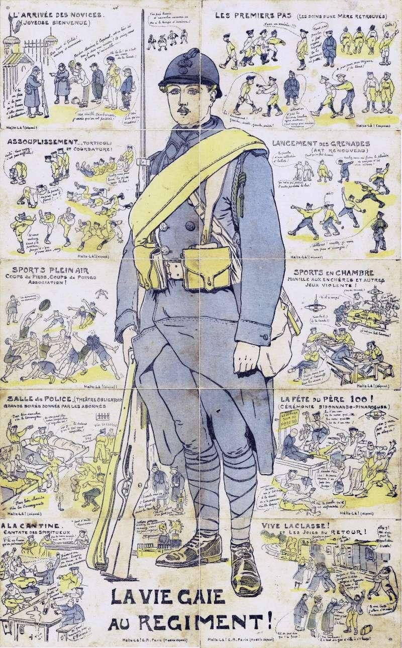 estimation de 10 cartes postales en puzzle représentant un soldat Assemb10