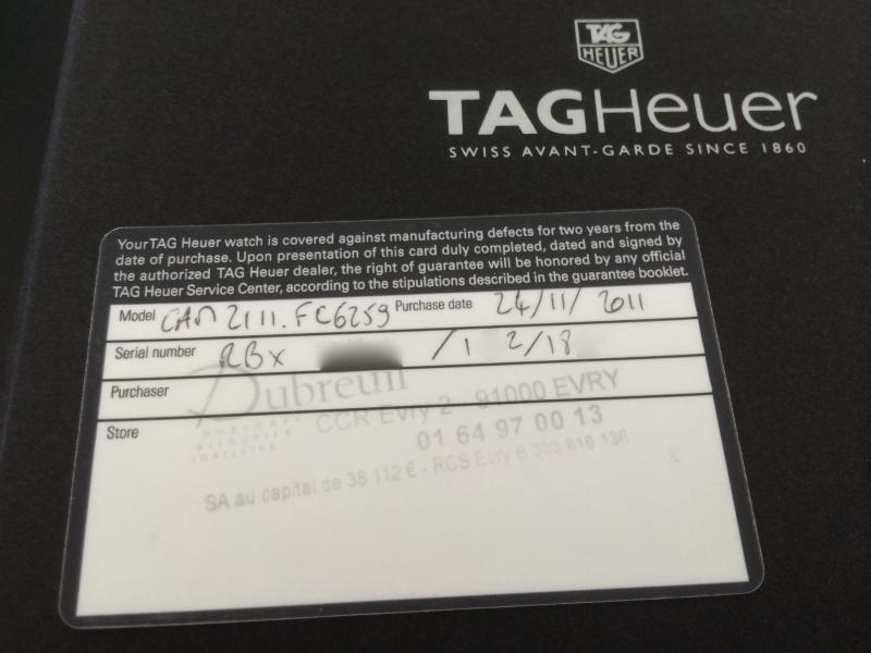 "(Vendue) Tag Heuer Silverstone ""Limited Edition 150ème Anniversaire"" Img_7212"