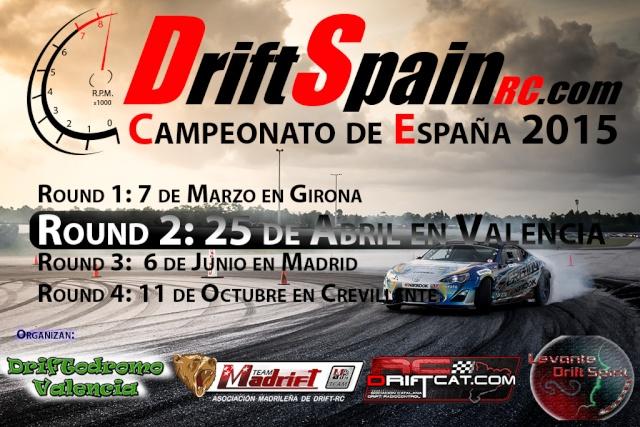 DriftSpainRC - III Campeonato Nacional - 25 de Abril - Driftodromo Valencia Cartel13