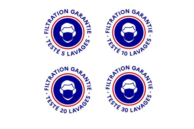 Voici les logos qui garantissent la qualité des masques grand public. 5ea6b510