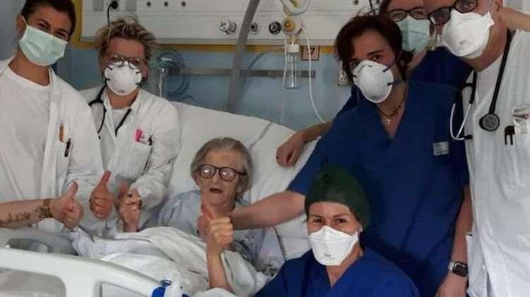 Coronavirus : en Italie, une patiente de 95 ans guérit de la maladie et devient un symbole Bb11hl10