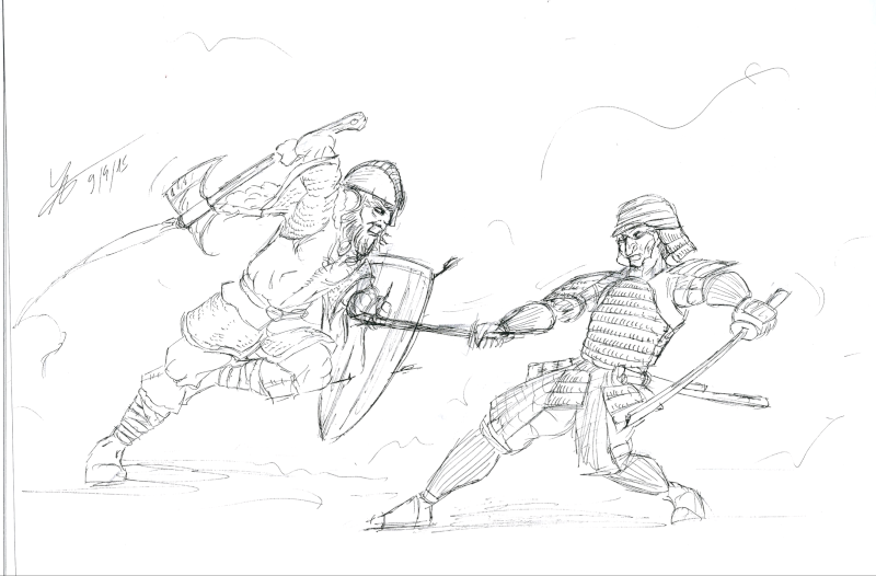 Les dessins de Gromdal - Page 4 Fight10