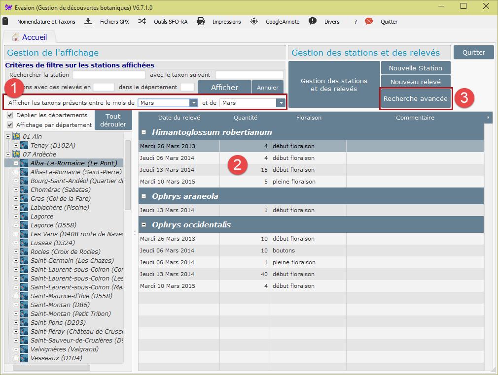 Evasion v6.7.1 integration d'évolutions demandées Pagepr11