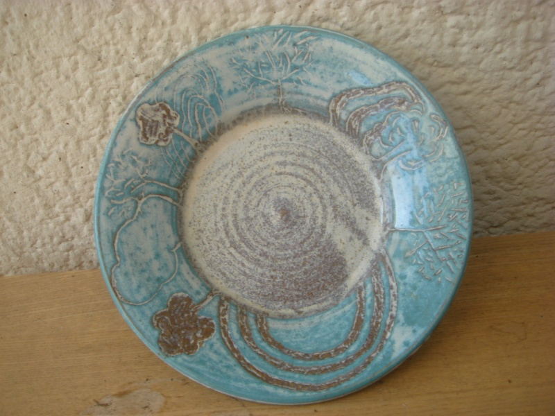 Any ideas...sgraffito ? small dish...unmarked...well made Copied28