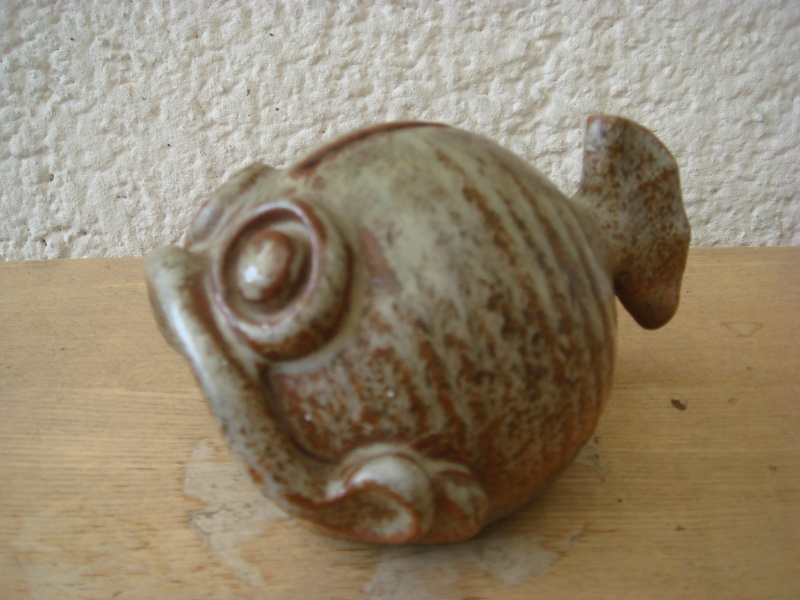 Stoneware Fish Money Box by Signum Pottery Copied51