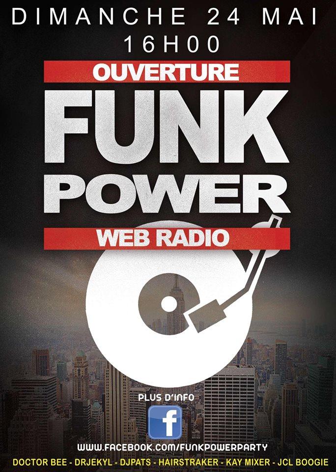 """ouverture d'une nouvelle web radio:""""FUNK POWER"""" Annonc10"""