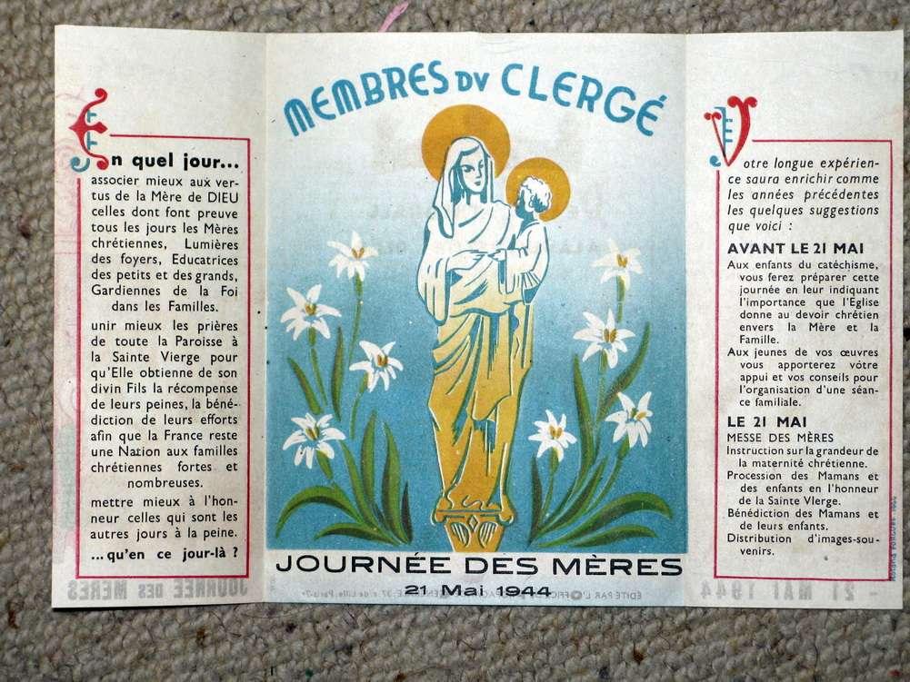 Consécration de la France au Cœur Immaculé de Marie le 22 Novembre 1940 et le 28 Mars 1943 Tract_11