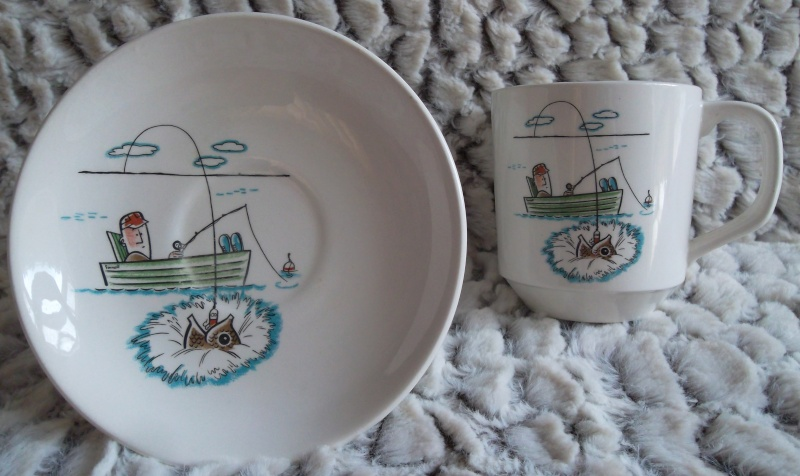 Fishing Pat.No.515 cup and saucer sets 01610