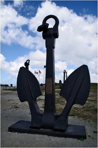 La pointe de Penhir - mémorial de la bataille de l'atlantique . Pointe13