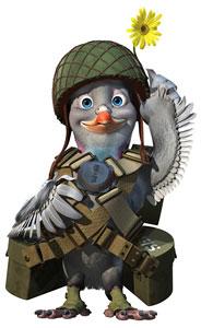 Les pigeons au combat . Vailla11