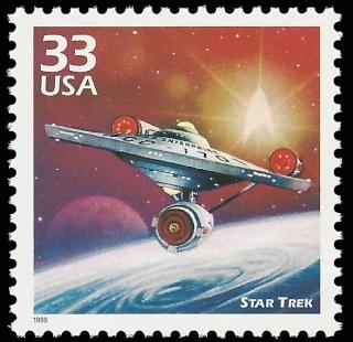 Star Trek - Emission du timbre USS Enterprise NCC-1701 par la poste américaine en 1999 1999_010