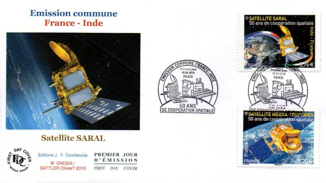 50 ans de coopération spatiale entre la France et l'Inde / Emission philatélique commune 2015 2015_010