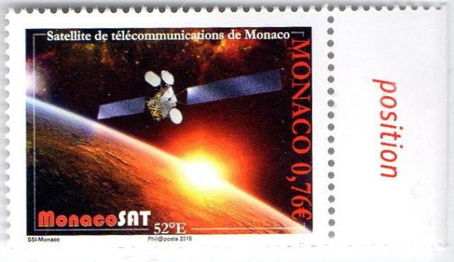 Lancement du satellite MonacoSat - Emission d'un timbre par Monaco 2015_012