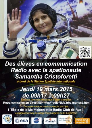 Vol spatial de Samantha Cristoforetti / Expedition 42 et 43 - FUTURA / Soyouz TMA-15M Affich10