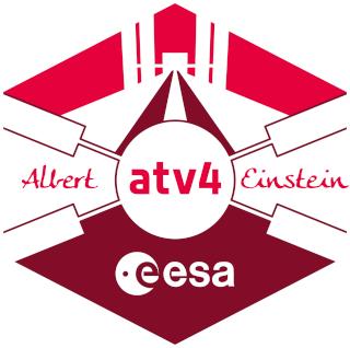 Enveloppe ayant voyagé à bord de l'ATV-4 Albert Einstein / la Station Spatiale Internationale et la capsule Dragon CRS-3 Atv-al10