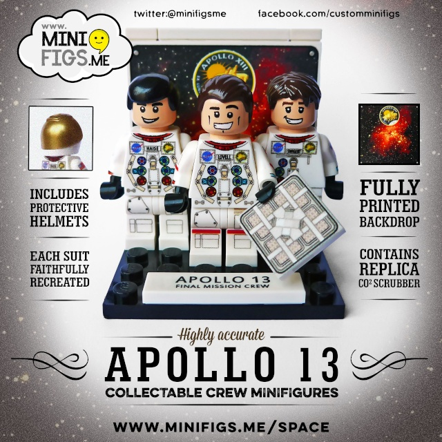 Apollo 13 - Commémoration 45 ans avec Minifigs Lego Crew-s10