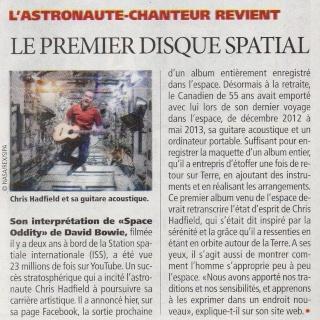 [musique] Chris Hadfield sort un album ''spatial'' Hadfie10