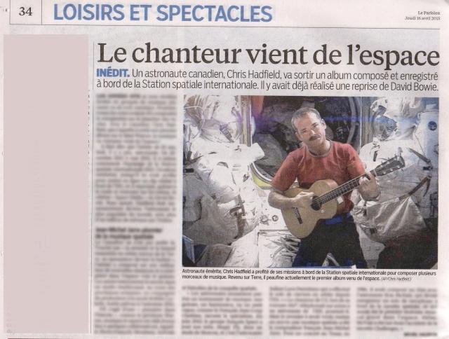 [musique] Chris Hadfield sort un album ''spatial'' Hadfie13