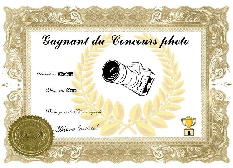 Gagnant du mois de Mars Diplom10