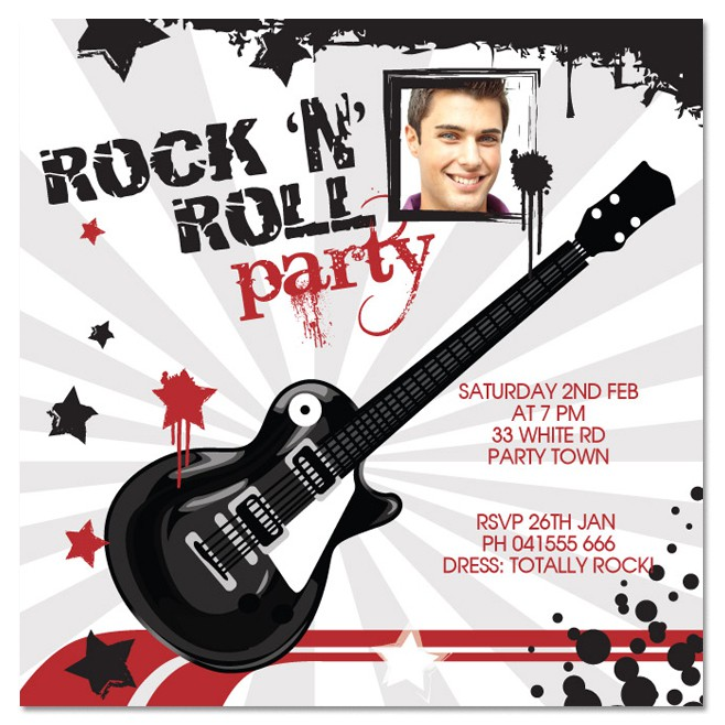 invitation anniversaire homme Rock-a10