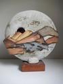 Large plinth mounted ceramic sculpture signed Sylvia '84 Troika-esque Dscn2510