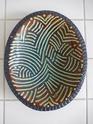 Slip-trailed dish with impressed pattern border, incised mark... Dscn2611