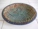 Slip-trailed dish with impressed pattern border, incised mark... Dscn2612