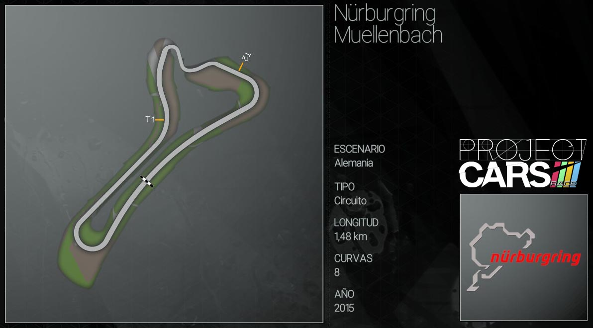 Circuitos Project CARS Nurbur10