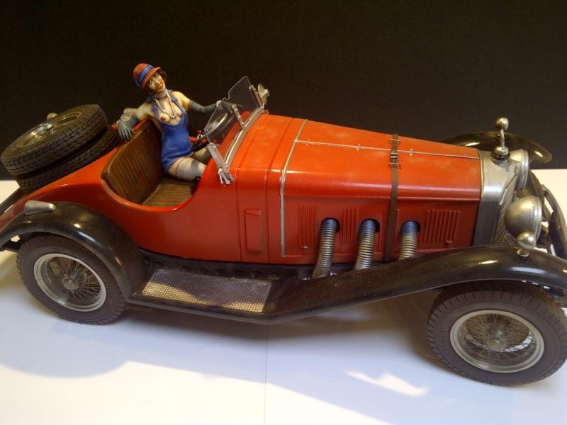 MERCEDES-BENZ SSK ROADSTER 1928 : (  DIORAMA 1/18 ) Saint-13