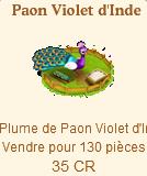 Paon violet d'Inde => Plume de Paon Violet d'Inde Sans_170