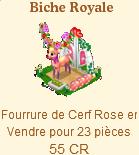 Biche Royale => Fourrure de Cerf Rose Sans_323