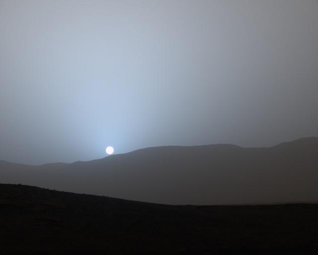 Sunset on Mars 2015 Pia19410