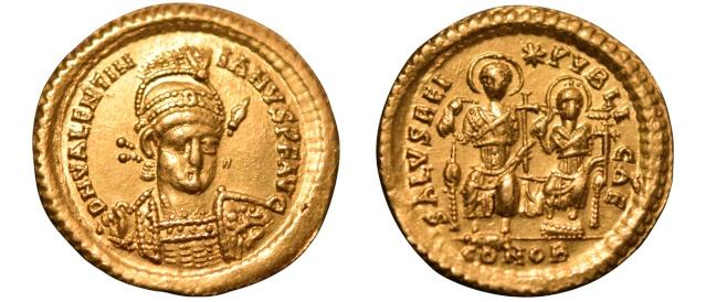 Solidus Valentinien Constantinople Valent10