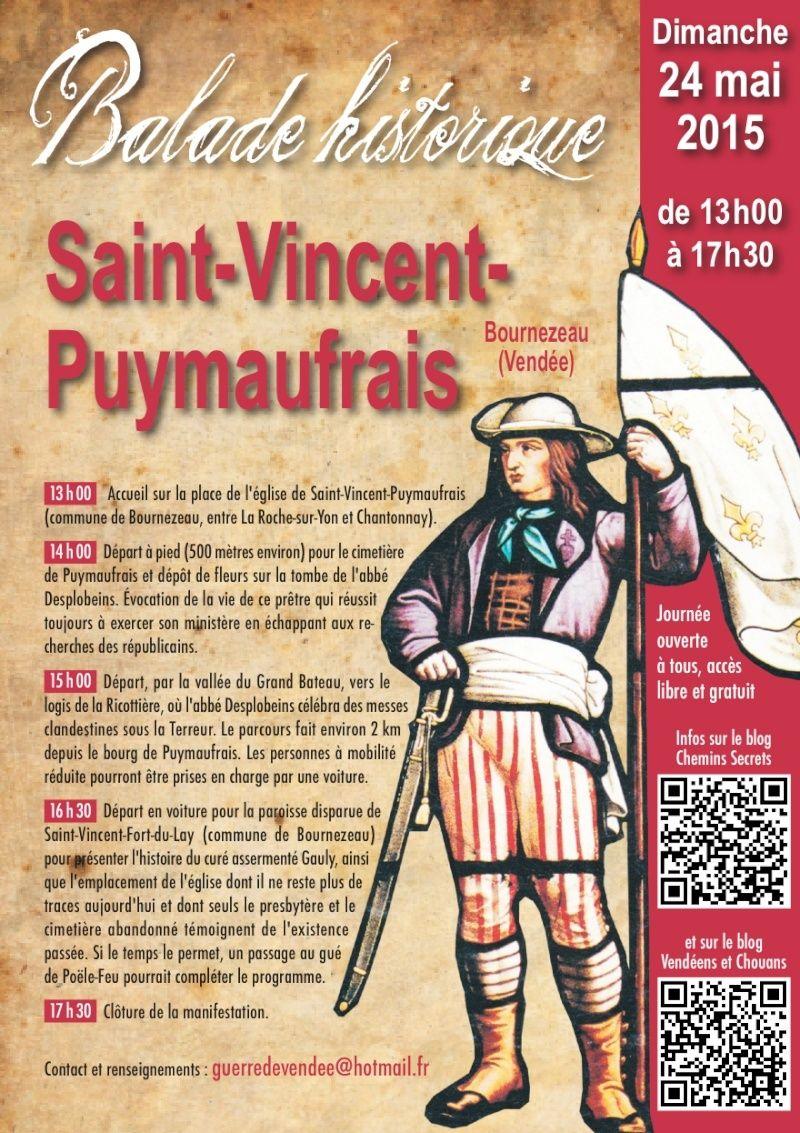 Dimanche 24 mai 2015 : Balade historique à Saint-Vincent-Puymaufrais (Vendée) Puymau10
