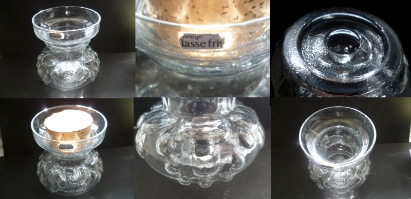 Clear Pressed glass corked jar Design by Lasse Fris... Lasse10