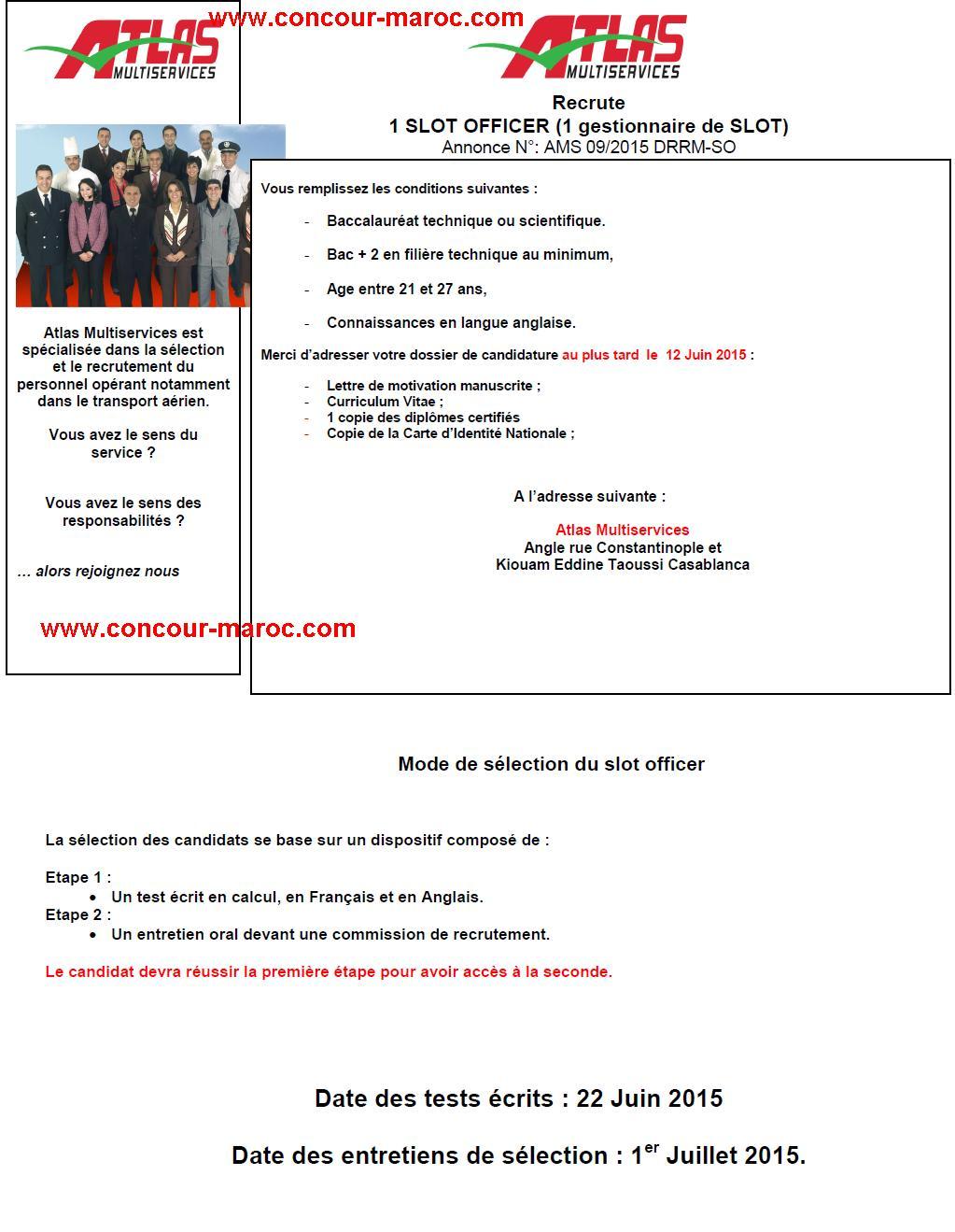 أطلس اون لاين/ الخطوط الملكية المغربية : مباراة لتوظيف وكيل (3 مناصب) و عون توثيق (1 منصب) و مخطط مواقيت الطيران (1 منصب) آخر أجل لإيداع الترشيحات 12 يونيو 2015 Conco176