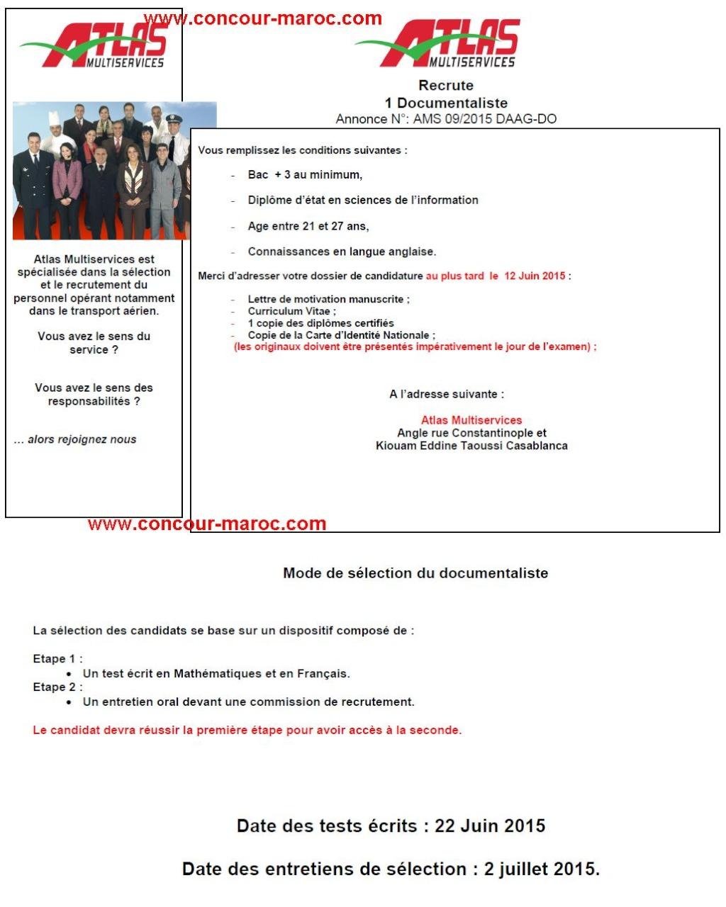 أطلس اون لاين/ الخطوط الملكية المغربية : مباراة لتوظيف وكيل (3 مناصب) و عون توثيق (1 منصب) و مخطط مواقيت الطيران (1 منصب) آخر أجل لإيداع الترشيحات 12 يونيو 2015 Conco177
