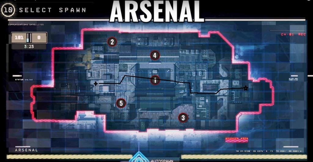 hardpoint et dernier rempart, les maps Arsena12