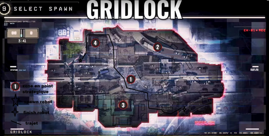 hardpoint et dernier rempart, les maps Gridlo10