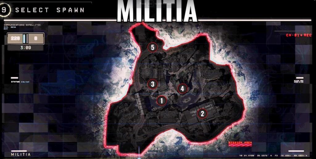 hardpoint et dernier rempart, les maps Militi10