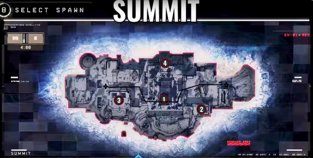 hardpoint et dernier rempart, les maps Summit11
