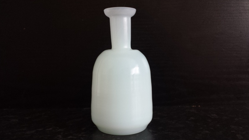 contemporary or studio uranium glass vase unmarked with finish pontil marks 20150510